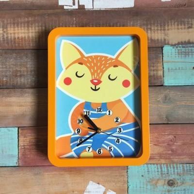 Настенные часы для детской Лисичка
