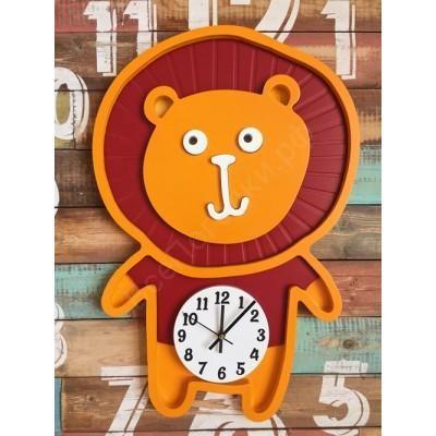 Настенные часы для детской Лева шоколад