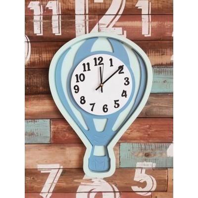 Настенные часы для детской Воздушный шар голубой