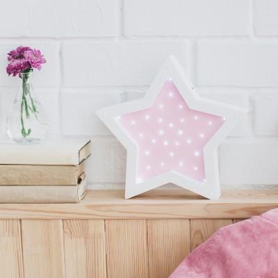 Ночник детский  ЗВЕЗДА розовая