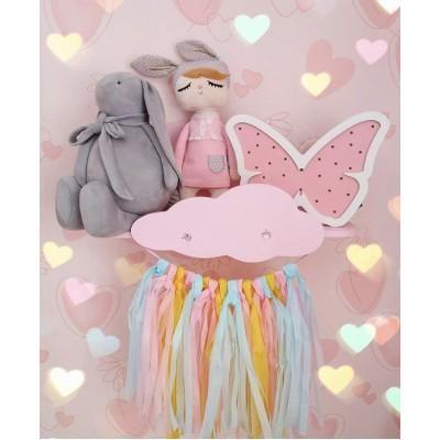 Ночник детский Бабочка розовый