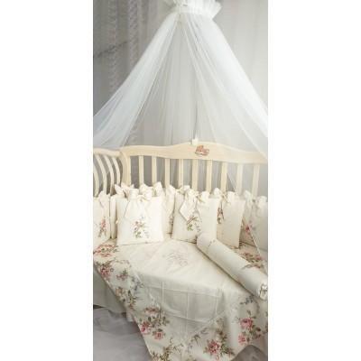 Балдахин для детской кроватки Версаль белый