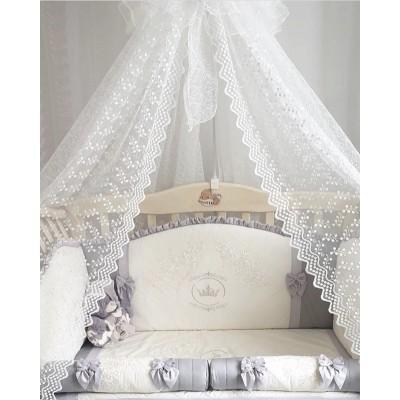 Комплект в кроватку Анхелика серебро