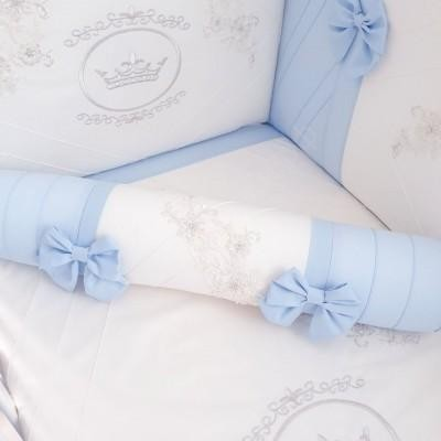 Комплект в кроватку Анхелика голубой