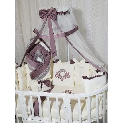 Балдахин для детской кроватки Арабелла вишневый