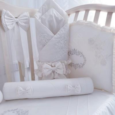 Комплект в кроватку Луиза молочный