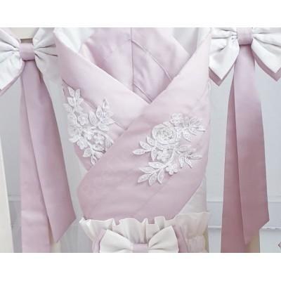 Комплект в кроватку Луиза розовый