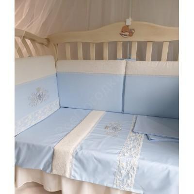 Комплект в кроватку Корона в голубом