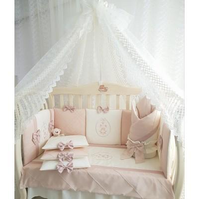 Комплект в кроватку Мари пудра