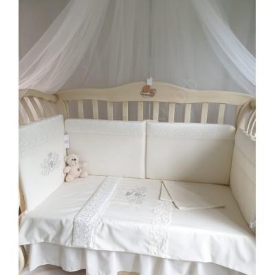 Комплект в кроватку Корона с вензелем