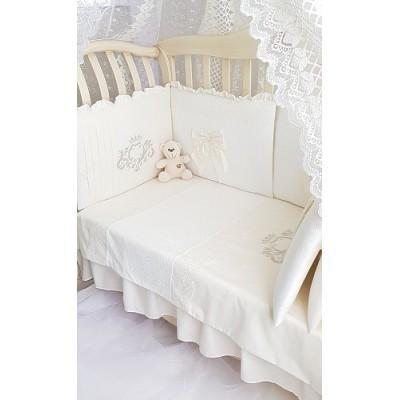 Комплект в кроватку Мадрид лайт экрю
