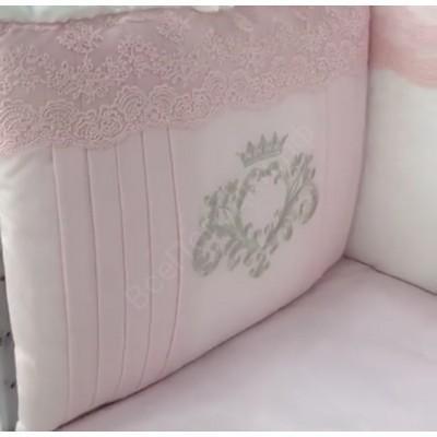 Комплект в кроватку Мадрид лайт розовый