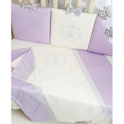 Комплект в кроватку Мари сирень