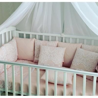 Комплект в кроватку Ванесса luxury пудра