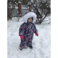 Зимний комбинезон для девочки Сердечко