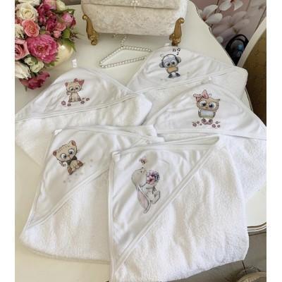 Махровое полотенце с уголком Милашки