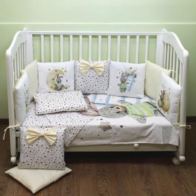 Комплект в кроватку Пухлики Зайка с лесенкой