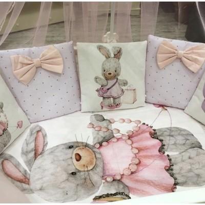 Комплект в кроватку Пухлики Зайка модница