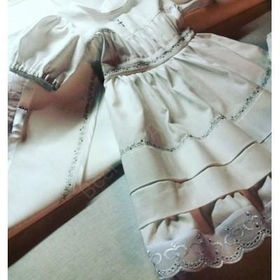 Крестильное платье Евангелина стразы