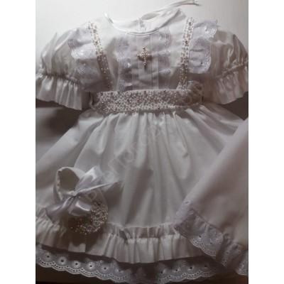 Крестильное платье Евангелина с жемчугом