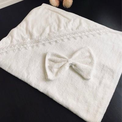 Махровый уголок и рукавичка Жемчужинка