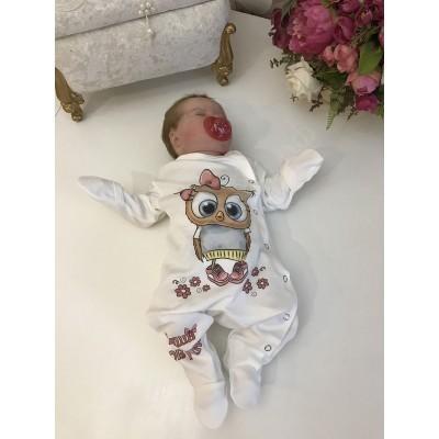 Кокон для новорождённых утеплённый Наша совушка