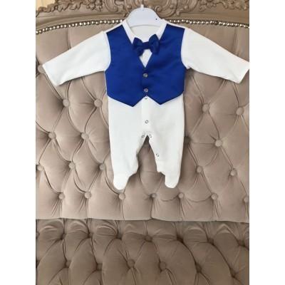 Комплект на выписку для мальчика Королевский синий