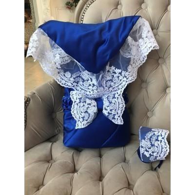 Конверт-одеяло на выписку НЕАПОЛЬ синий