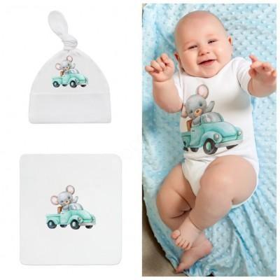 Комплект для новорождённого Мышонок в машинке