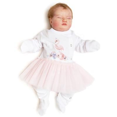 Комплект для новорождённой девочки ПРИНЦЕССА ФЛАМИНГО с фатином