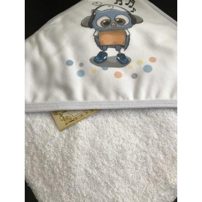 Махровое полотенце с уголком Милашки Совенок