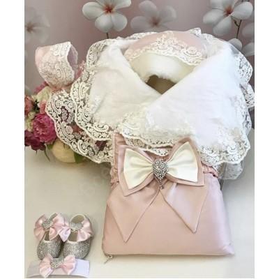 Комплект на выписку Бабочки luxury baby