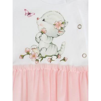 Кокон для новорождённых утеплённый Котёнок