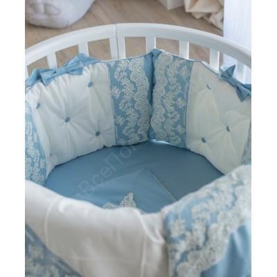 Комплект в кроватку Версаль голубой