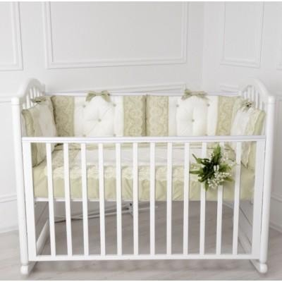 Комплект в кроватку Версаль оливковый