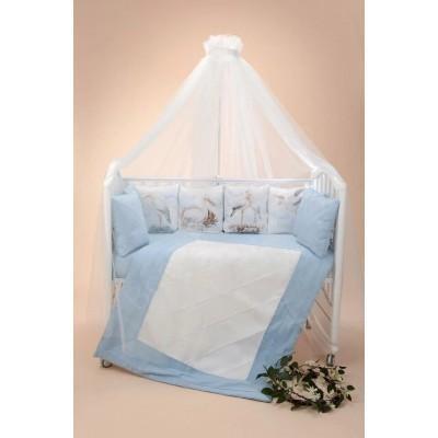 Комплект в кроватку Аисты голубой
