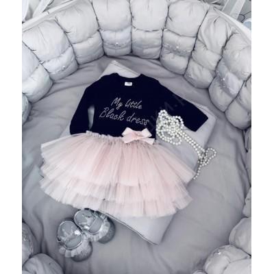 Боди для девочки Коко с розовой юбочкой