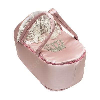 Люлька-переноска для новорожденных Королевская розовая