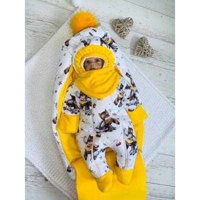 Зимний комплект для новорождённого Пушинка бэтмен