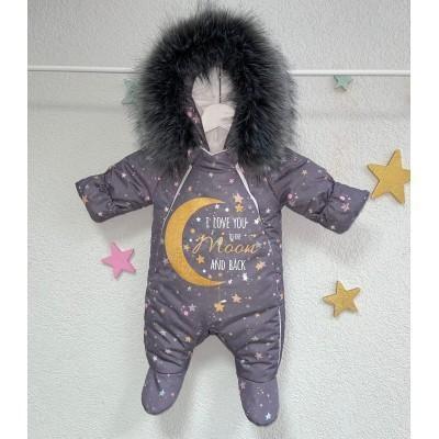 Комбинезон для новорождённого Люблю тебя до луны и обратно