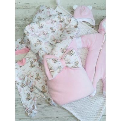Зимний комплект для новорождённой Лапочка
