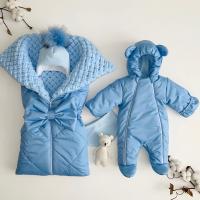 Утеплённый комплект для новорождённых мальчиков Льдинка ТМ/685