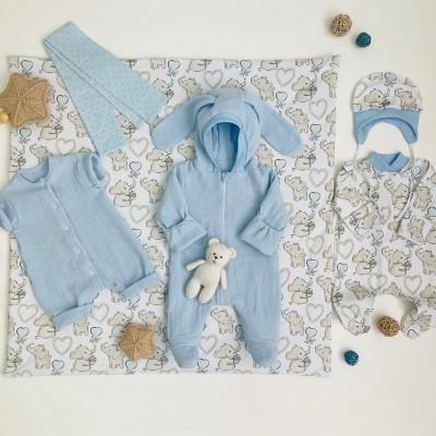 Комплект на выписку для новорождённого мальчика Солнышко