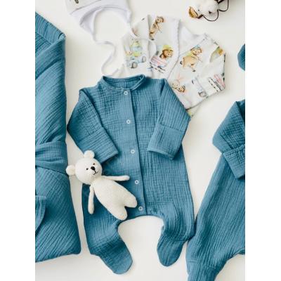Комплект на выписку для новорождённого мальчика Дружба блюстоун