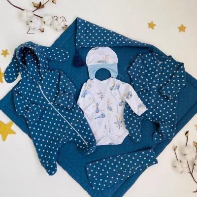 Комплект на выписку для новорождённого мальчика Дружба