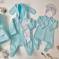 Летний комплект на выписку для новорождённых Дружба