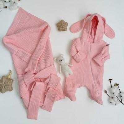 Комплект на выписку для новорождённого Мечта розовый