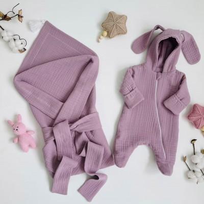 Комплект на выписку для новорождённого Мечта лиловый