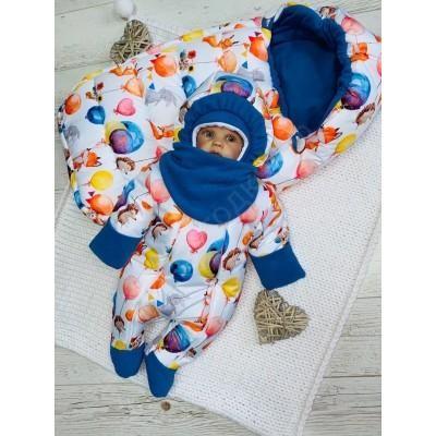Зимний комплект для новорождённой Пушинка лисичка