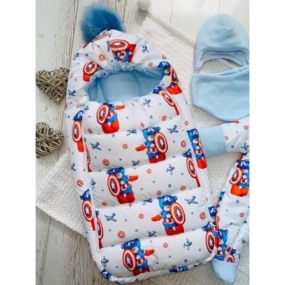 Зимний комплект для новорождённого Пушинка Мишка супергерой